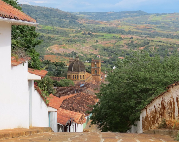 The town of Barichara is a colonial gem, right on the edge of the gorgeous Chicamocha Valley in Colombia's Santander region. Consistently voted the prettiest village in Colombia, the white-washed houses with their red roofs blur into a sea of greens and blues as the countryside stretches to the horizon.