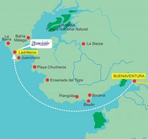 Ladrilleros Map